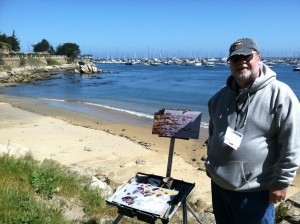 Yours truly out painting with the group
