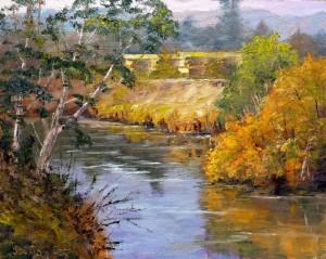 The Los Gatos Creek 8x10, oil on panel