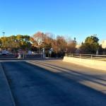 Entrance to the Eggo Kellogg plant. Miguelita Creek flows under this bridge.