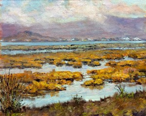 Baylands Fun, 8x10,oil on board