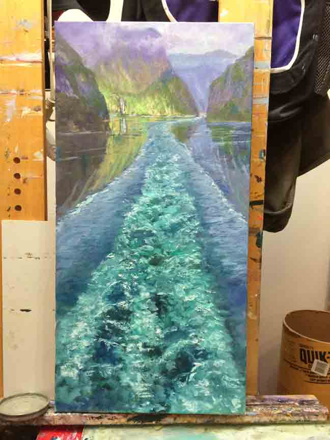 Refining the far cliffs and water