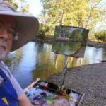 Selfie along Los Gatos Creek in Vasona park